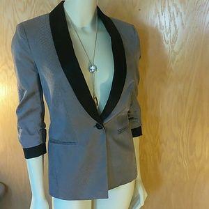 Sexy Gray black Bebe Blazer jacket 4 snake emboss